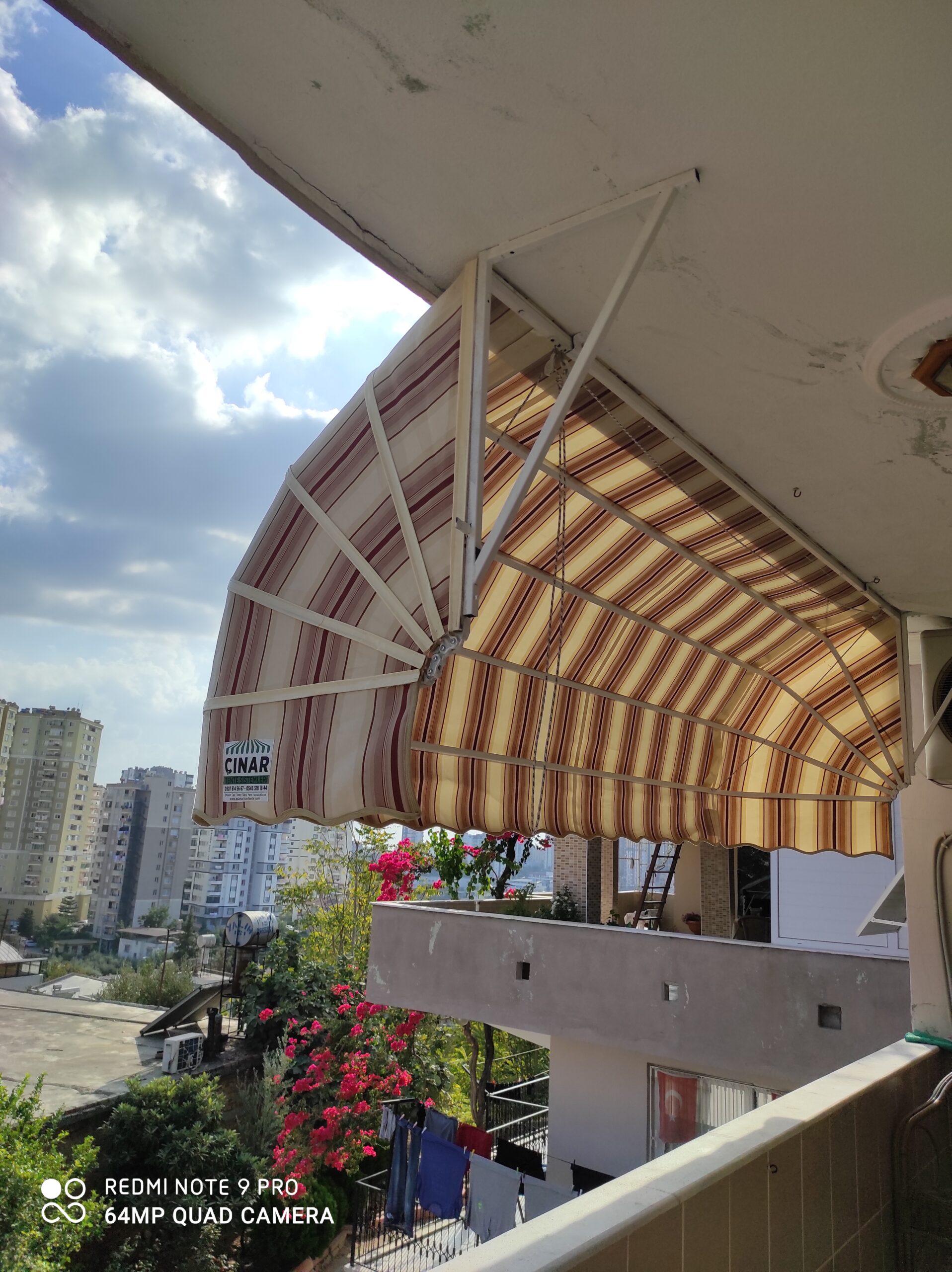 Adana Körüklü Tente Montajımız Balkon Tentesi