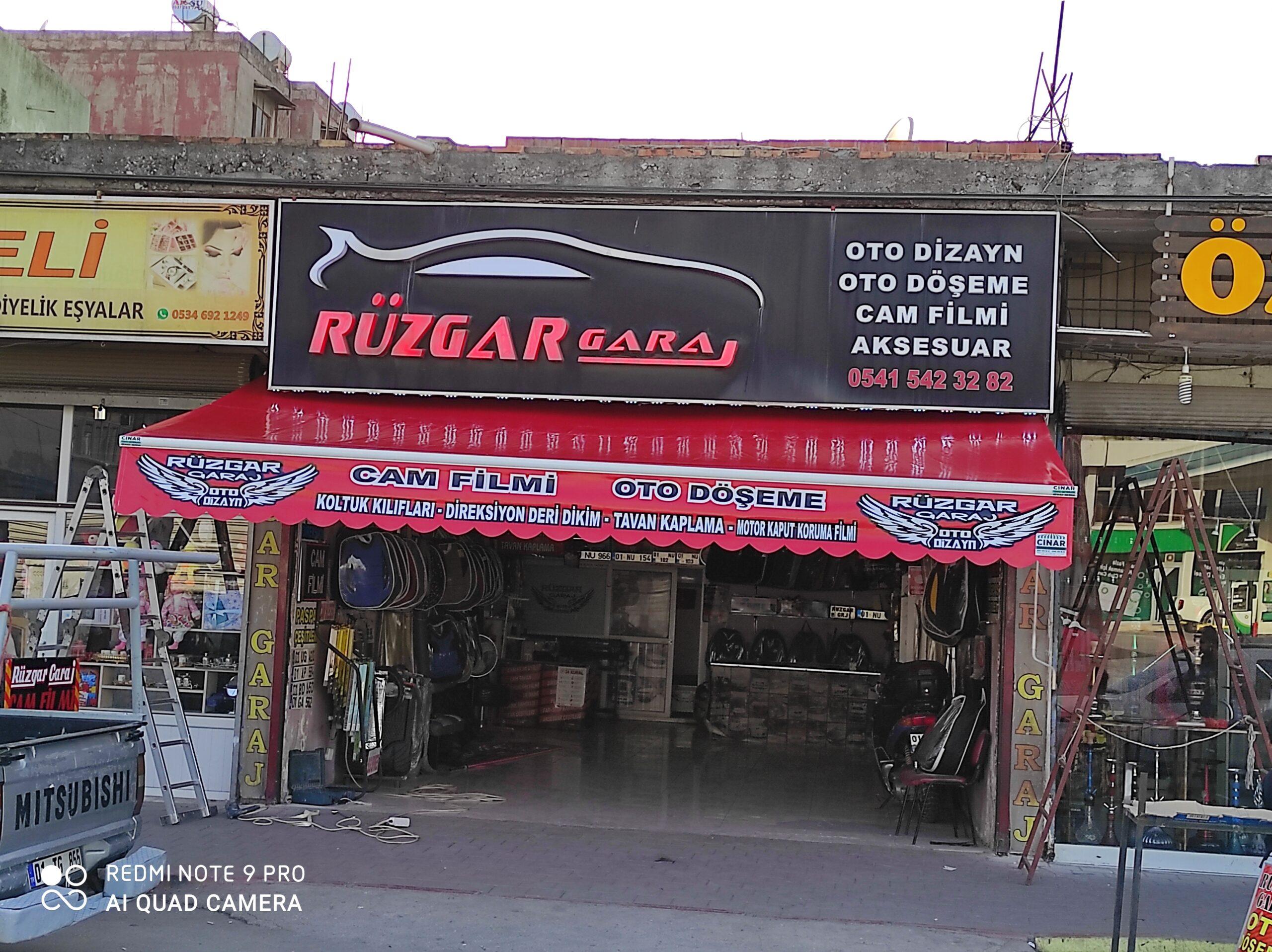 Adana mafsallı Tente Rüzgâr Garaj