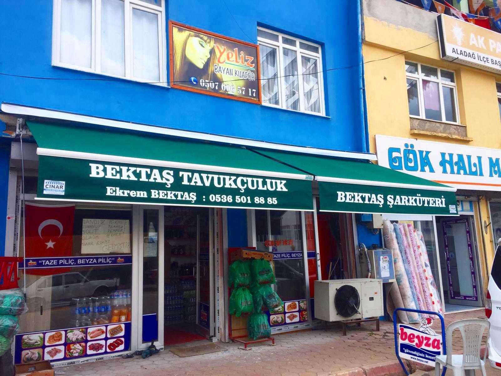 Adana Aladağ mafsallı tente Montajımız