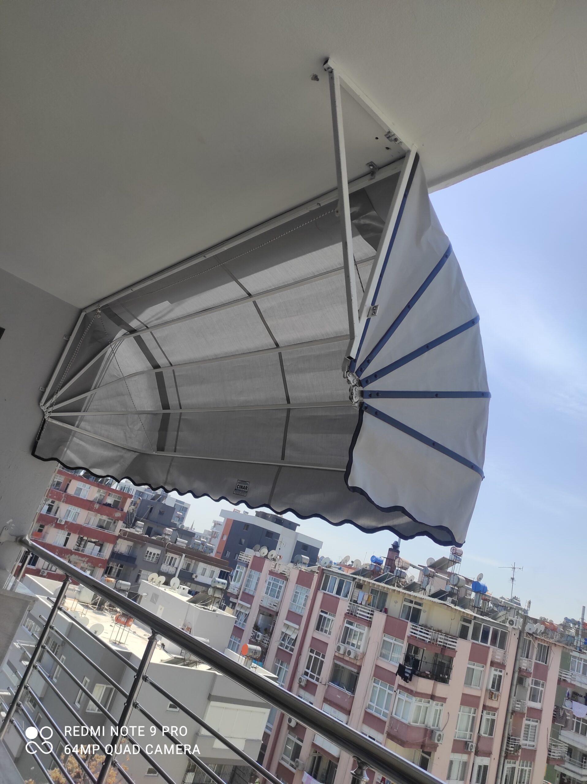 Balkon tentesi körüklü Tente